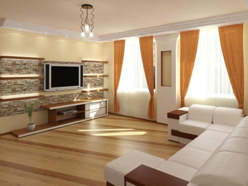 Декоративный камень в интерьере квартиры. Фото 3