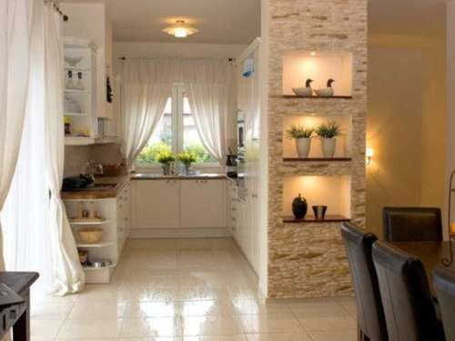 Декоративный камень в интерьере квартиры. Фото 4
