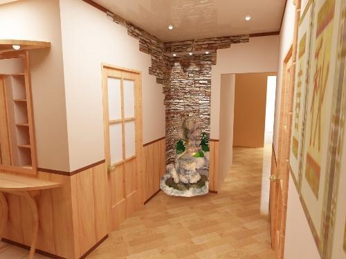Декоративный камень в интерьере квартиры. Фото 6