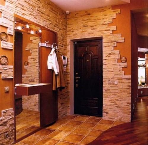 Декоративный камень в интерьере квартиры. Фото 7