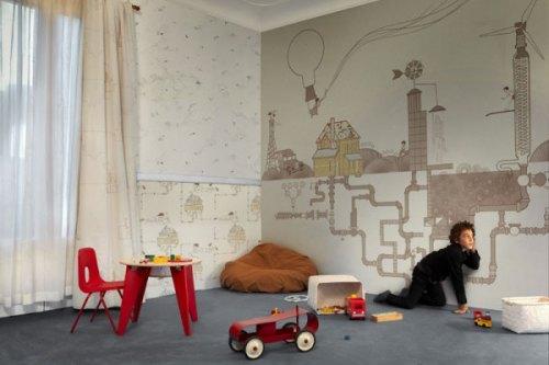 Обои в дизайне детской комнаты. Фото 5