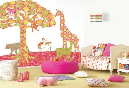 Обои в дизайне детской комнаты. Фото 6