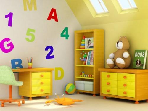 Обои в дизайне детской комнаты. Фото 7