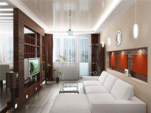 Дизайн интерьера маленькой гостиной. Фото 11