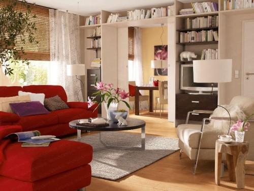 Дизайн интерьера маленькой гостиной. Фото
