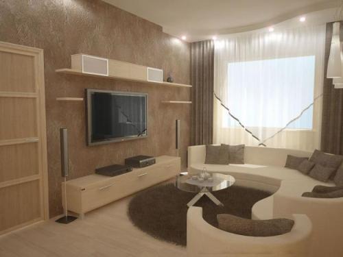 Дизайн интерьера маленькой гостиной. Фото 8