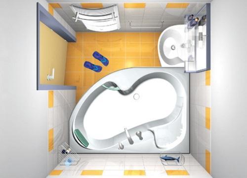 Дизайн маленькой ванной комнаты. Фото 10
