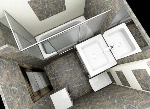 Дизайн маленькой ванной комнаты. Фото 11