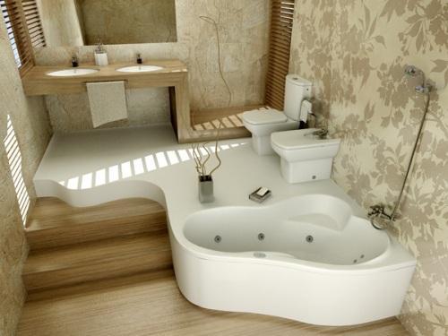 Дизайн маленькой ванной комнаты. Фото 4
