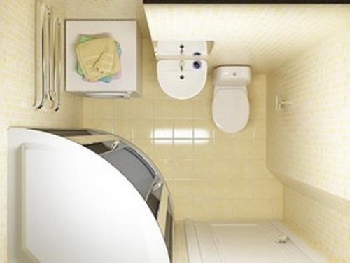 Дизайн маленькой ванной комнаты. Фото 6