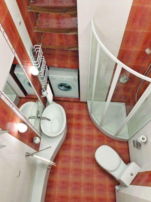 Дизайн маленькой ванной комнаты. Фото 7