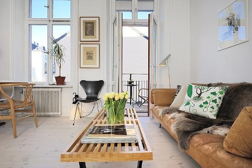 Дизайн однокомнатной квартиры. Гостиная зона