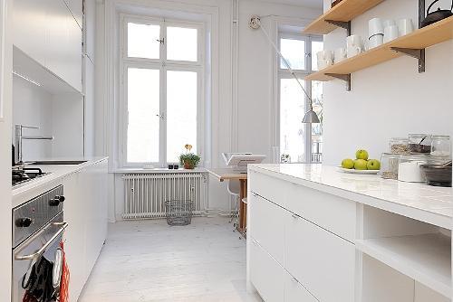 Дизайн однокомнатной квартиры. Кухня