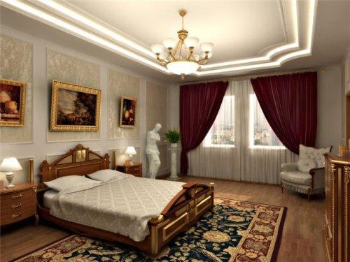 Дизайн спальни в классическом стиле. Фото 7