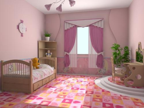 Интерьер детской комнаты для девочки. Фото 9
