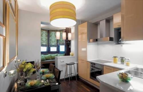 Интерьер кухни с балконом. Фото 6