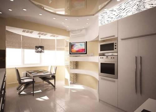 Интерьер кухни с балконом. Фото 7