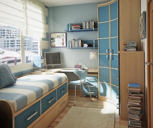 Интерьер маленькой детской комнаты. Фото 4