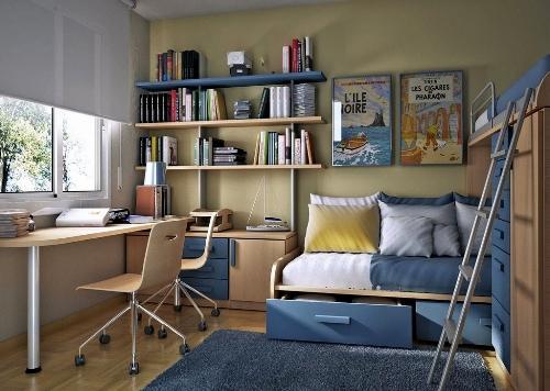 Интерьер маленькой детской комнаты. Фото 9
