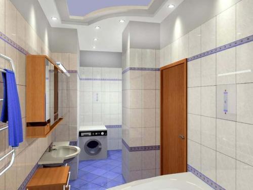 Кафель в интерьере ванной комнаты. Фото 3