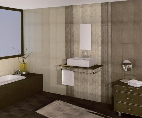 Кафель в интерьере ванной комнаты. Фото 6