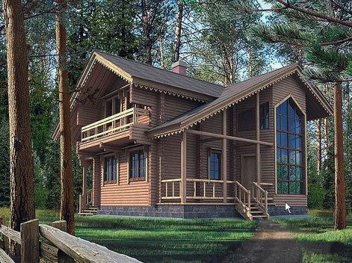 Какой может быть крыша в доме из бруса?