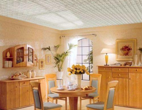 Плитка для потолка кухни