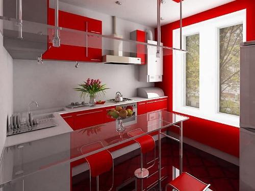 Кухни в стиле хай-тек. Фото 12