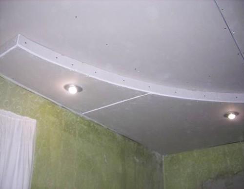 Светильники в потолке из гипсокартона