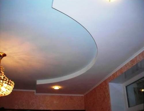 Монтаж двухуровневого потолка из гипсокартона