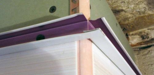 Монтаж профиля для крепления реечного потолка на углах