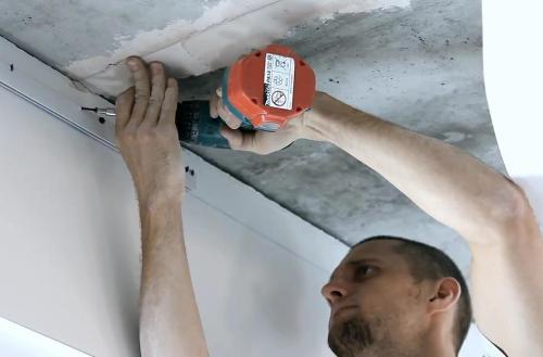 Технология натяжного потолка своими руками