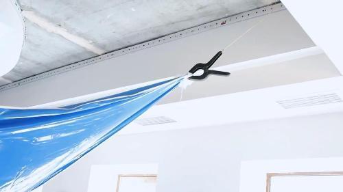 Веревки с зажимами-крокодилами для временной фиксации натяжного потолка