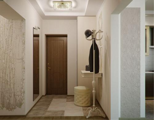 Светлые обои для маленького коридора