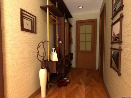 Обои для маленького коридора. Фото
