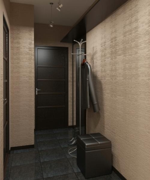 обои для коридора в квартире маленького фото