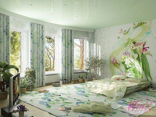 Обои на стену с цветами. Фото 10