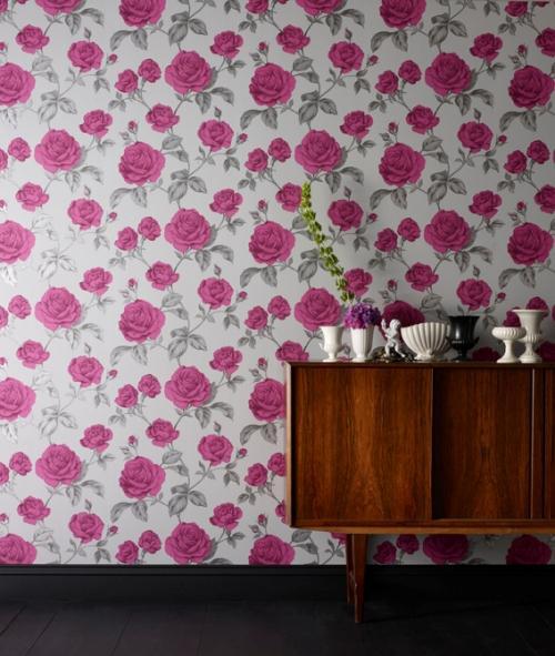 Обои на стену с цветами. Фото 5