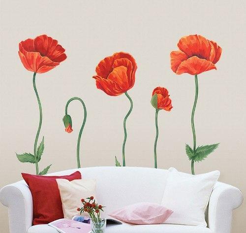 Обои на стену с цветами. Фото 6