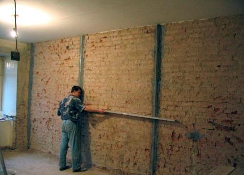 Подготовка стен для оштукатуривания
