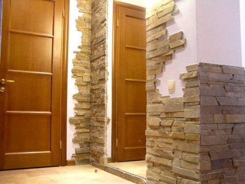 Отделка квартир декоративным камнем: выбор и применение