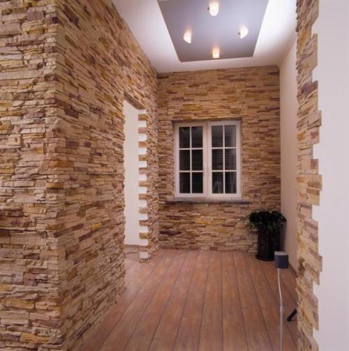 Отделка квартир декоративным камнем. Фото