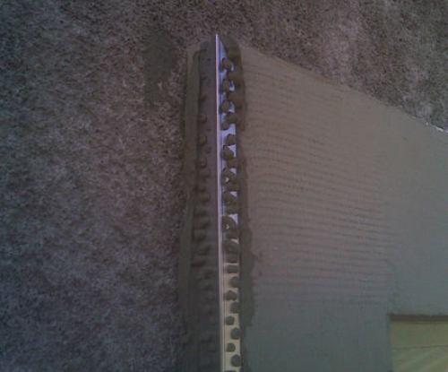 Армирование отделки окна