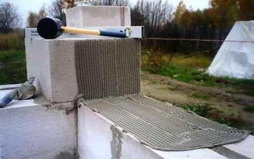 Кладка стен из пеноблоков