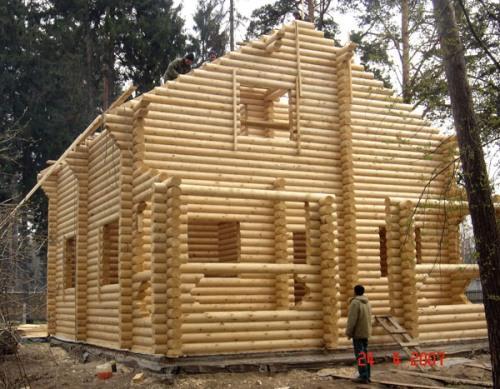 Усадка деревянного дома