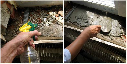 Подготовка поверхности для установки подоконника