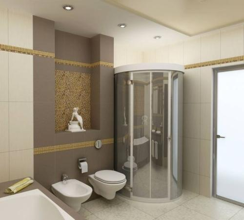 Ванная комната с душевой кабиной. Фото 11