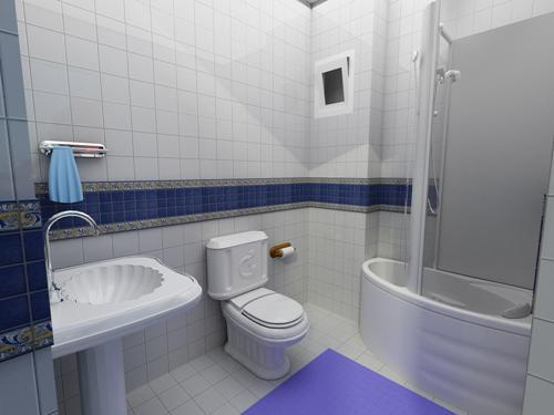Ванная комната с душевой кабиной. Фото 4