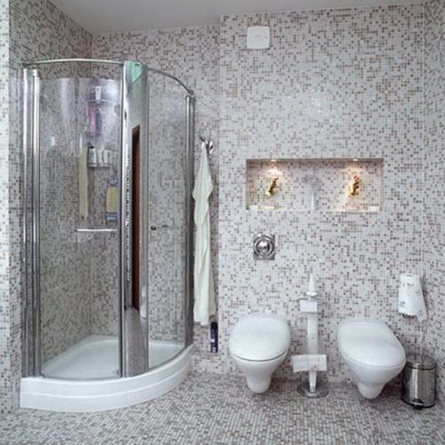 Ванная комната с душевой кабиной. Фото 5