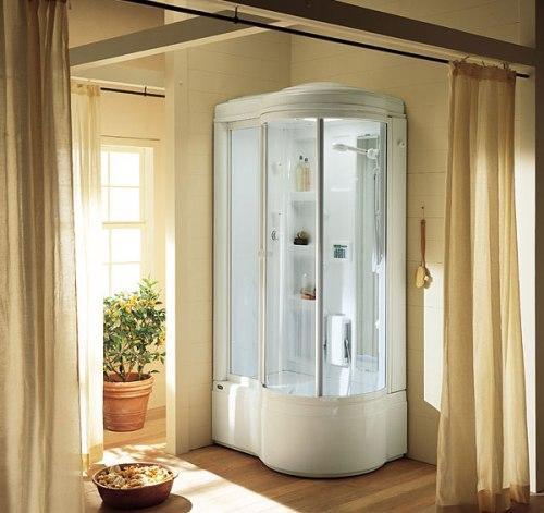 Ванная комната с душевой кабиной. Фото 6